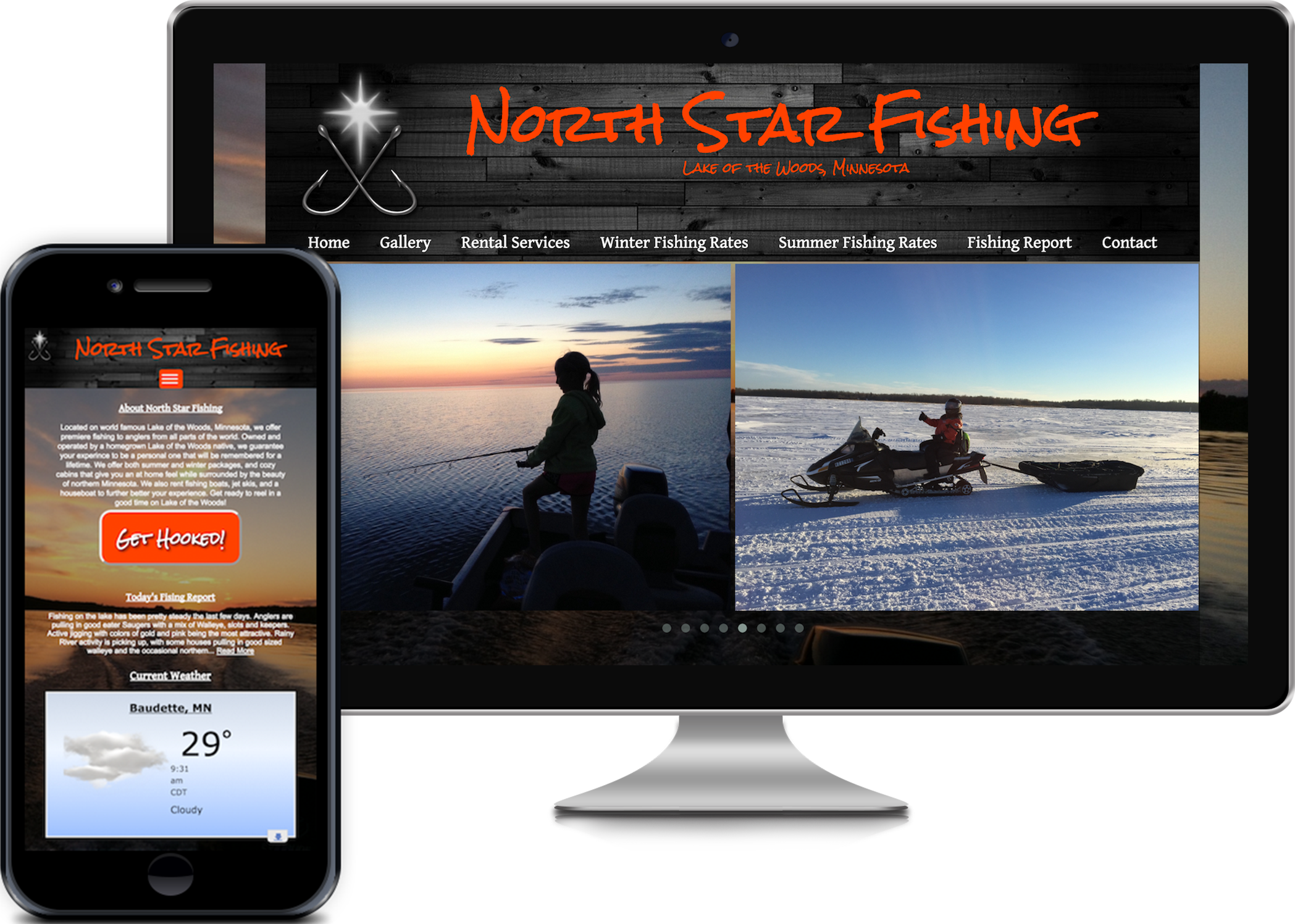 Middle Sister Creative project for North Star Fishing